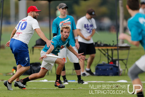 Day 1 of the 2015 USA Ultimate Nationals Championships