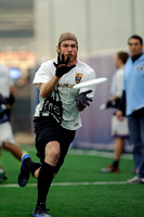 Garnet Valley, PA: Players vying for a spot on Major League Ultimate's Philadelphia Spinners test their skills at the first 2014 combine, Sunday, January 5 2014.